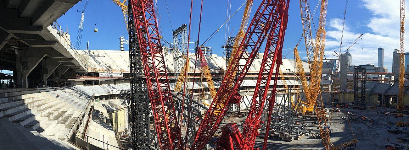 GA Atanta Falcons Mercedes Benz Stadium EMSEAL SJS System SJS-FR Seismic Colorseal